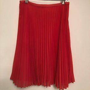 Mango Suit bright pink pleated midi skirt